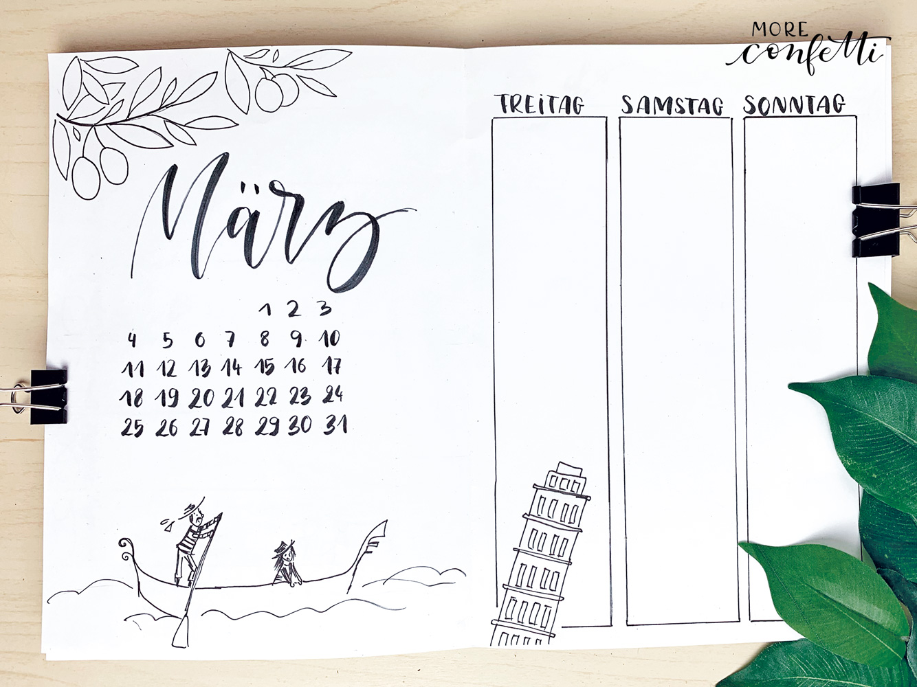 Bullet Journal – März